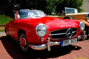 RED BEAUTY-OLDTIMER MERCEDES 2 by magicandbrother