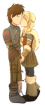 Commission 8/8: Hiccup And Astrid by foxhat94