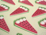 Watermelon pie fabric design by AnneKo