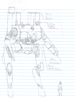 MW-125 Wolverine MechWalker by Louisvillian