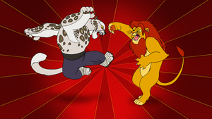 Kung Fu Simba vs Tai Lung by BennytheBeast