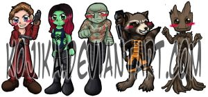 Guardians of the Galaxy Bookmarks by kojika