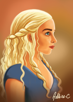 Daenerys, the Mother of Dragon by Adline-c
