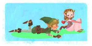 Summer Love in Hyrule by vincentsdeviantart