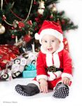 Little santa under the tree by nnenov
