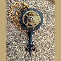 Steampunk Gears Necklace by asunder