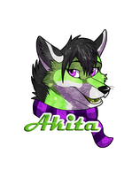 Akita Badge by WindWo1f
