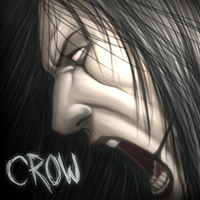 Trial painting. Crow by dwaynebiddixart