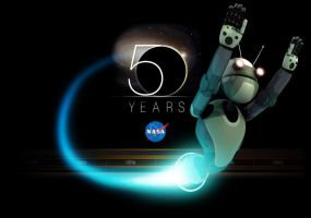 Automa, Robot for NASA 50th by angryzenmaster