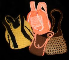 crochet bags by KRSdeviations