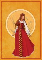 Traditionnal Russia Dress by Val-eithel