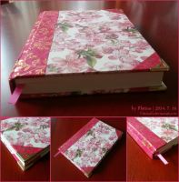 [bookmaking] Gold Embossed Floral Notebook by PlatinaSi