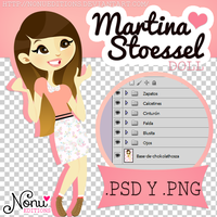 Doll ~Martina Stoessel~ (.PSD y .PNG) by Nonuu