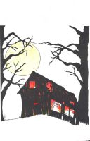 Miller's Farm cover color pencil / ink version by WesleyCraigGreen