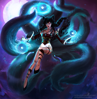Ahri, the Nine-Tailed Fox by Astranya