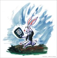 White Rabbit is late by iballoon