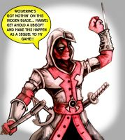 assassins creed deadpool style by Daniel-Jeffries