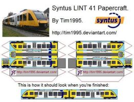 Syntus LINT 41 Papercraft by Tim1995