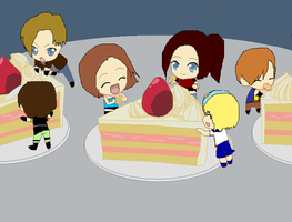 Resident evil Cake Party x3 by Epitaph-Of-Silence