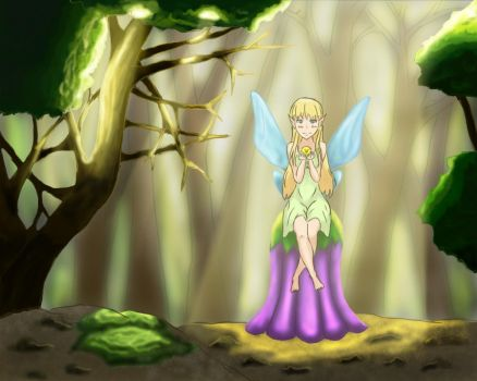 Fairy In The Forest by Victorika67Zombie