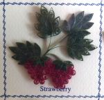 Quilled Strawberry by SpiralArtisan