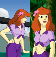 Aloha Scooby Doo Daphnie belly by GusSmee