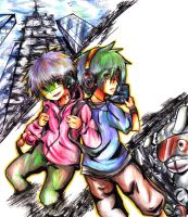 Old- C.B. And Player One by Yoshiie