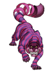 Cheshire Smilodon by LyhliTheLuminescent