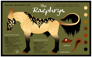 Species Sheet: Raephryn by SaraChristensen