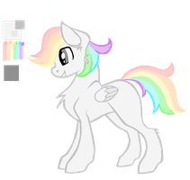 Chromatic Shine color ref and bio by Fluffomaru