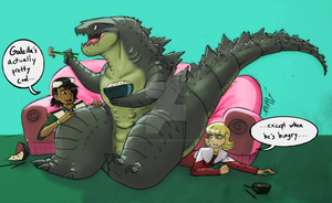Tiger and Bunny meet Godzilla '15 by RoFlo-Felorez