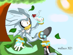 silver the hedgehog relax by wallacexteam