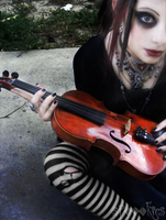 A lady with a violin by Spoookies