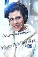My tribute to Princess Carrie Fisher by Caramel-lioness