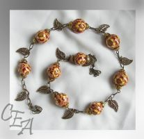 """Necklace """"Autumn flowers"""" by Kakomicly"""