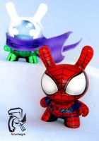 Spiderman and Mysterio Dunnys by FullerDesigns