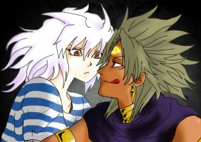 Yami Marik and Yami Bakura ~ 2012 by ASLpuppies