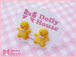 Ginger Man Earrings by Dolly House by SweetDollyHouse