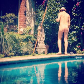 Male nude by the pool, 1 by TheMaleNudeStock