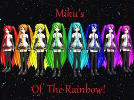 Mikus Of The Rainbow! by g-girl1