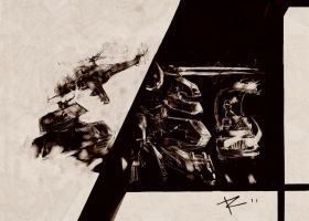 Metal Gear Action by Augusto-Rubio