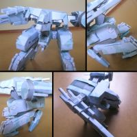 Metal Gear REX Papercraft by Ragnatic