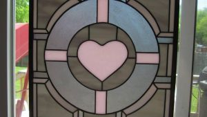 Companion Cube Panel Stained Glass by captiveaura