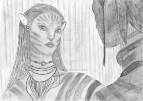 Neytiri and Jake Sully by LadyKayla2011