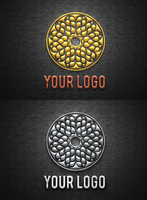 Chrome and Brushed Metal Logo Mock-Up by wabbitns