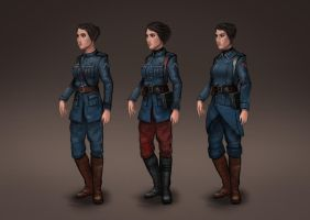 Female Officer Concept by TitikAwalCreative
