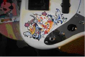 painting on a bass by killergnomes