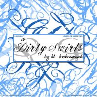 Brushes - Dirty Swirls by lilbrokenangel