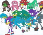 Speedy and Mix- Sonic the Hedgehog OC's by Bluexorcist93