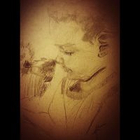 wednesday night sketch: a boy and his dog by PBTGOART